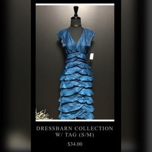Brand New Blue Dress Barn Tier Dress, Size 6